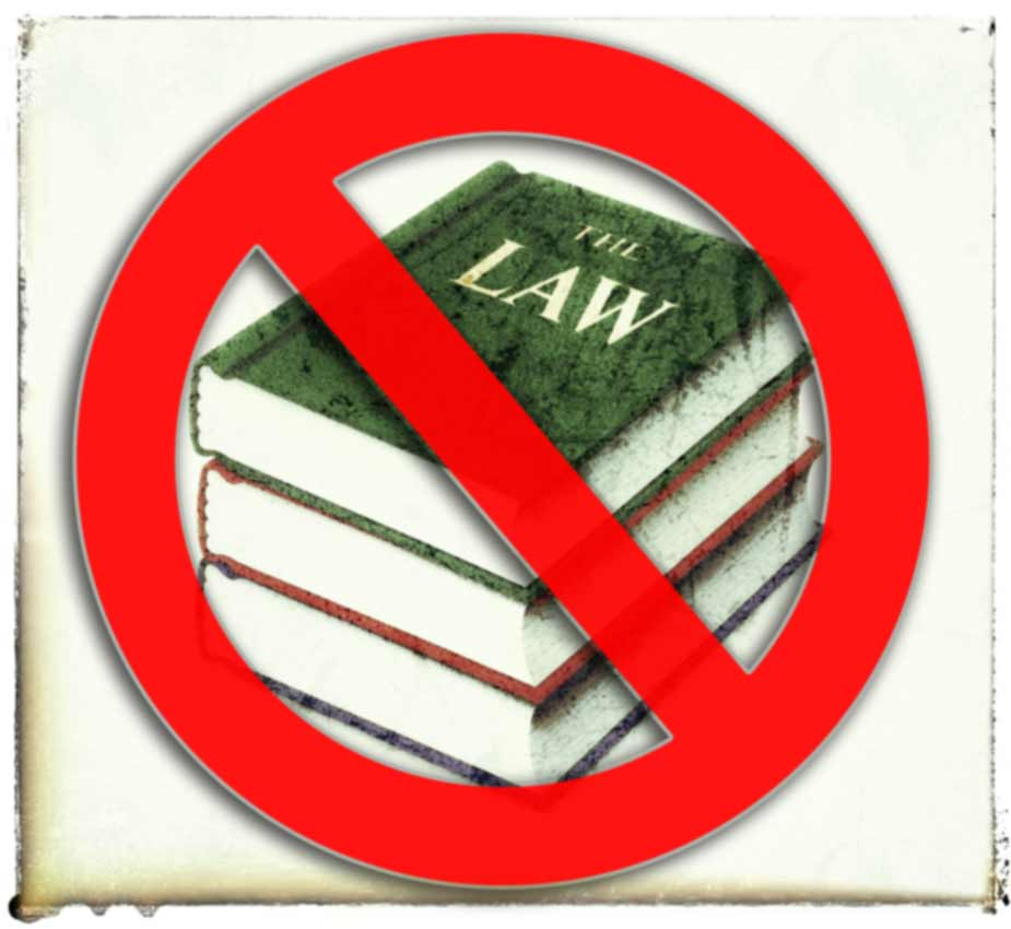 """Stack of """"the law"""" books."""