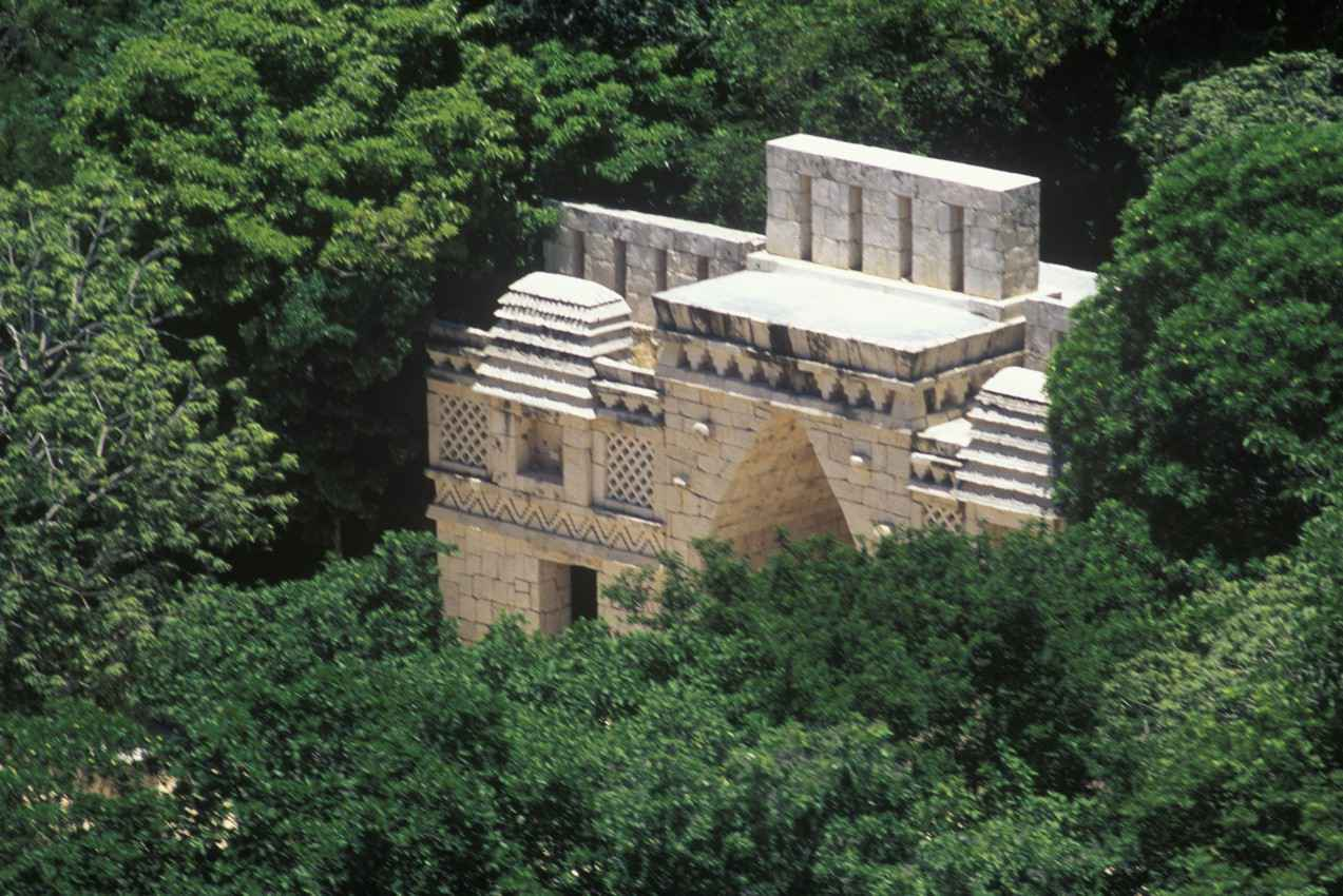 An ancient Mayan structure in the jungle near Playa Del Carmen.