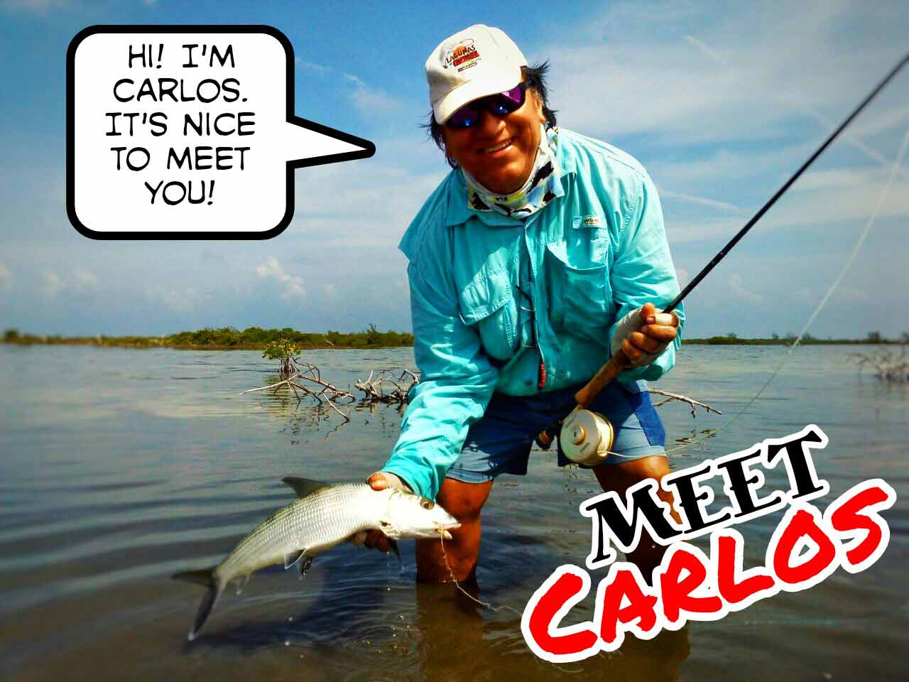 Meet Carlos Vega, the Fly Fishing expert in the Playa Del Carmen area.