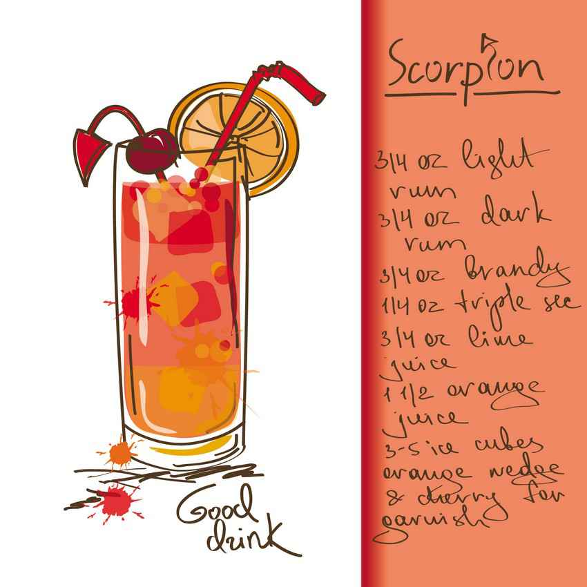 Scorpion drink recipe.