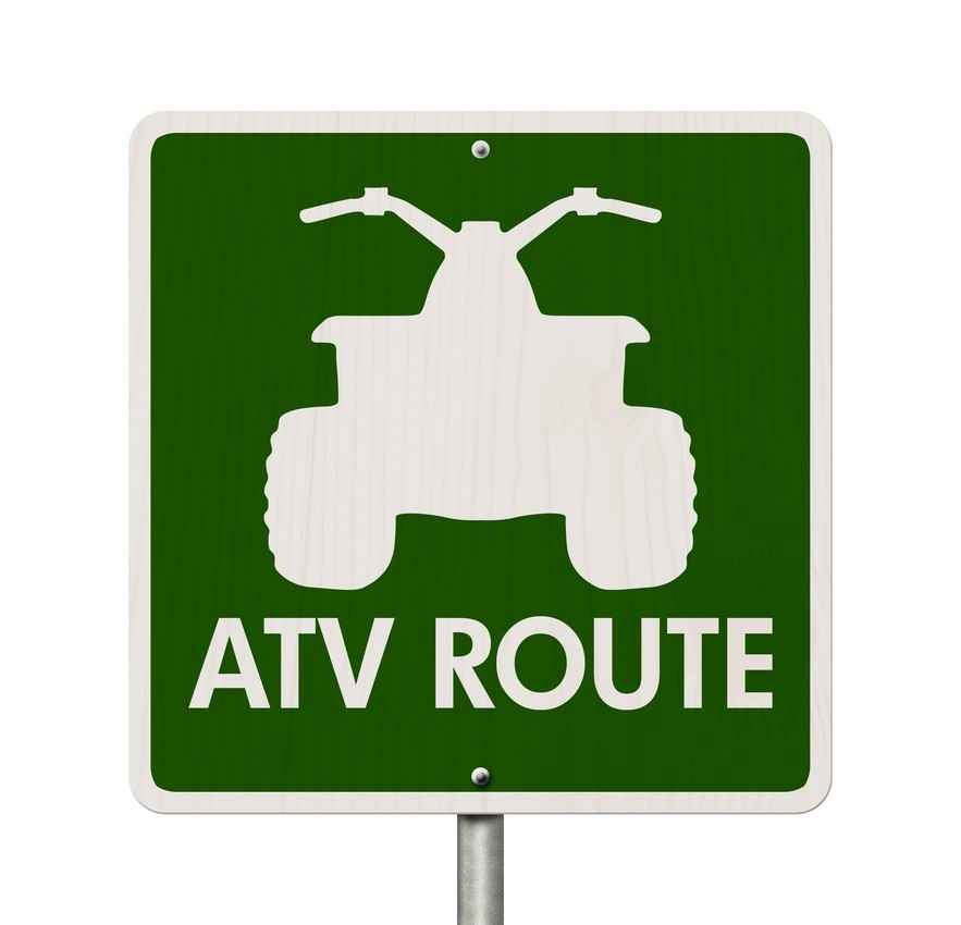 An ATV route sign.