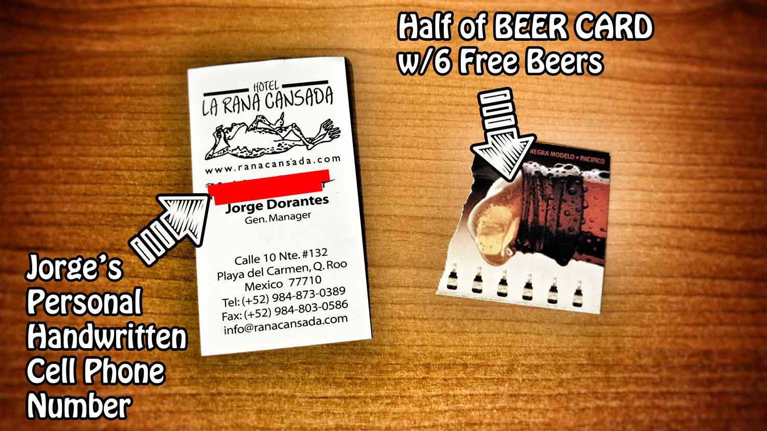 jorge-bar-ranita-business-card-and-half-of-beer-card