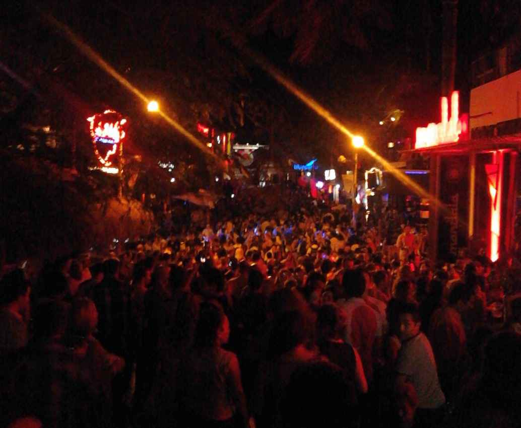 Fifth Avenue in Playa Del Carmen on New Year's Eve.
