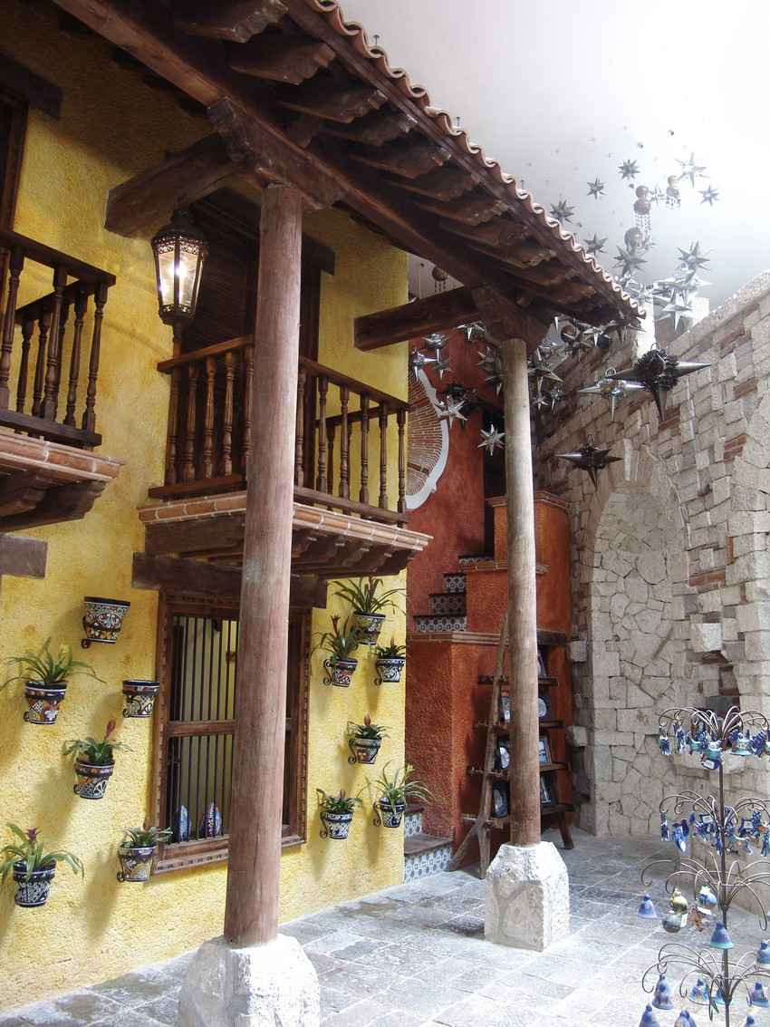 A traditional Mexican house near Playa Del Carmen.