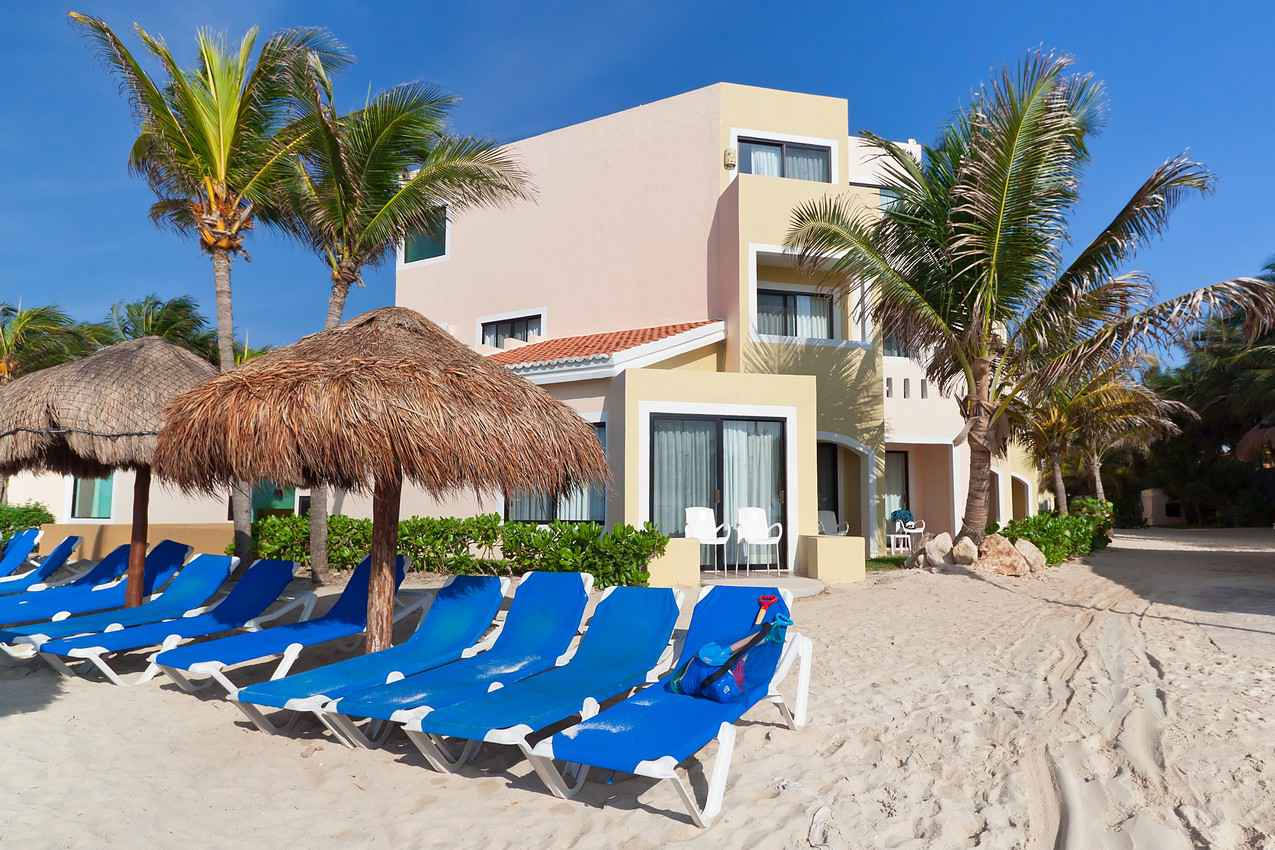 A beach house for rent in Playa Del Carmen.