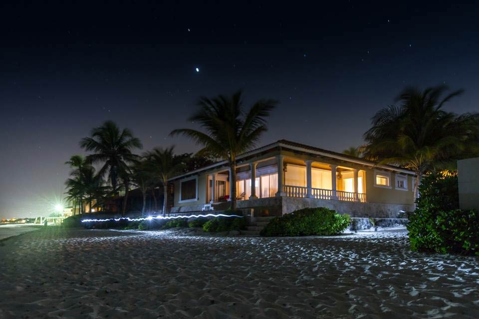 front-nightime-view-of-villa-del-mar-vacation-rental-in-playacar-neighborhood-of-playa-del-carmen