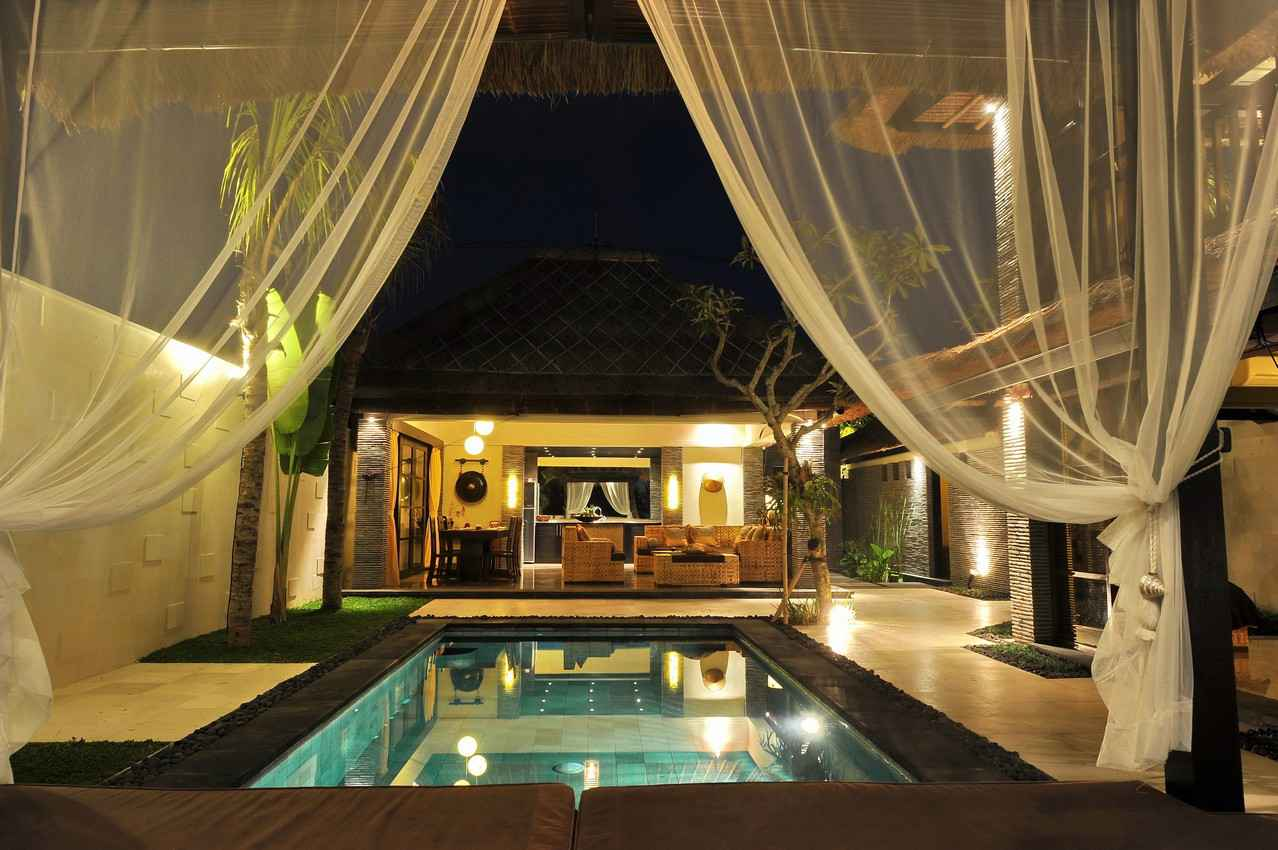 A wedding resort suite with a private pool.