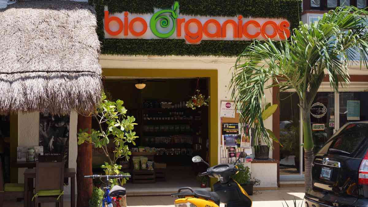 Bio-Organicos health food store and restaurant.