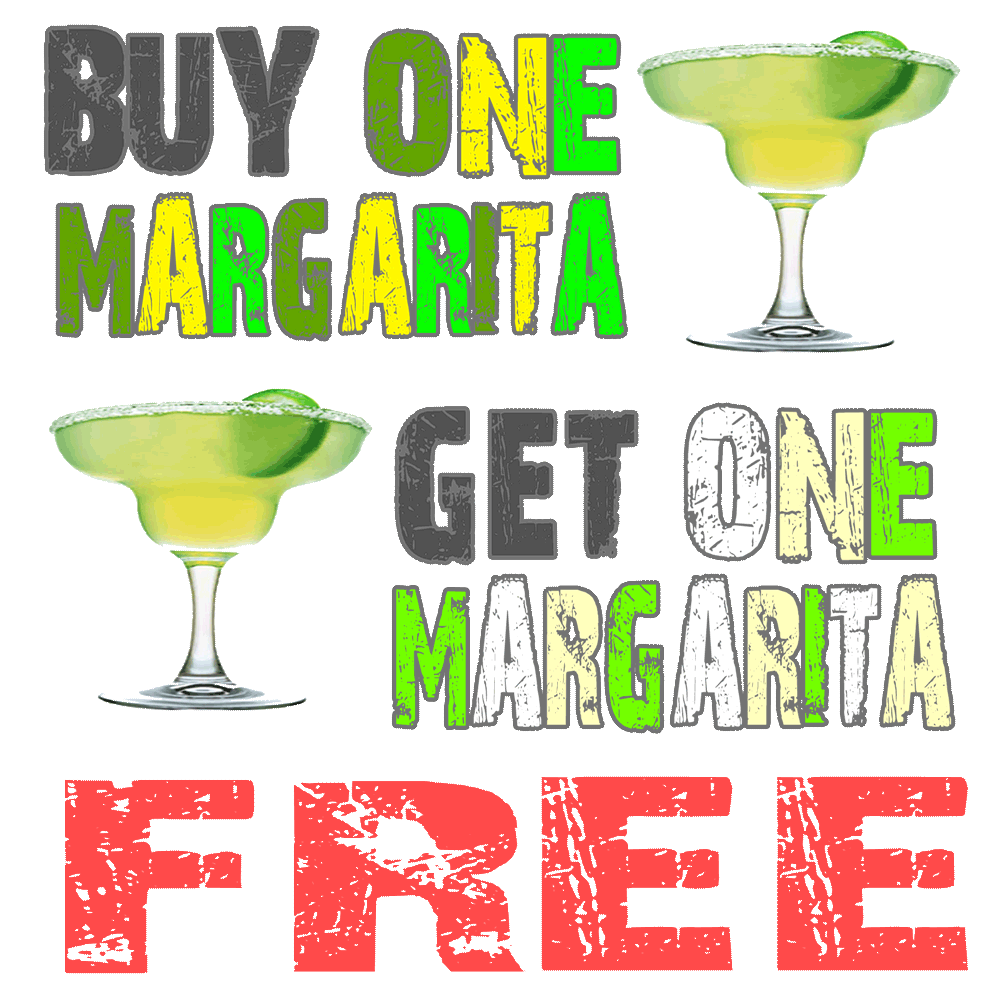 Get a FREE Margarita When You Buy a Margarita MONDAY - SATURDAY At Wah Wah Beach Bar From 10:AM TO 5:PM