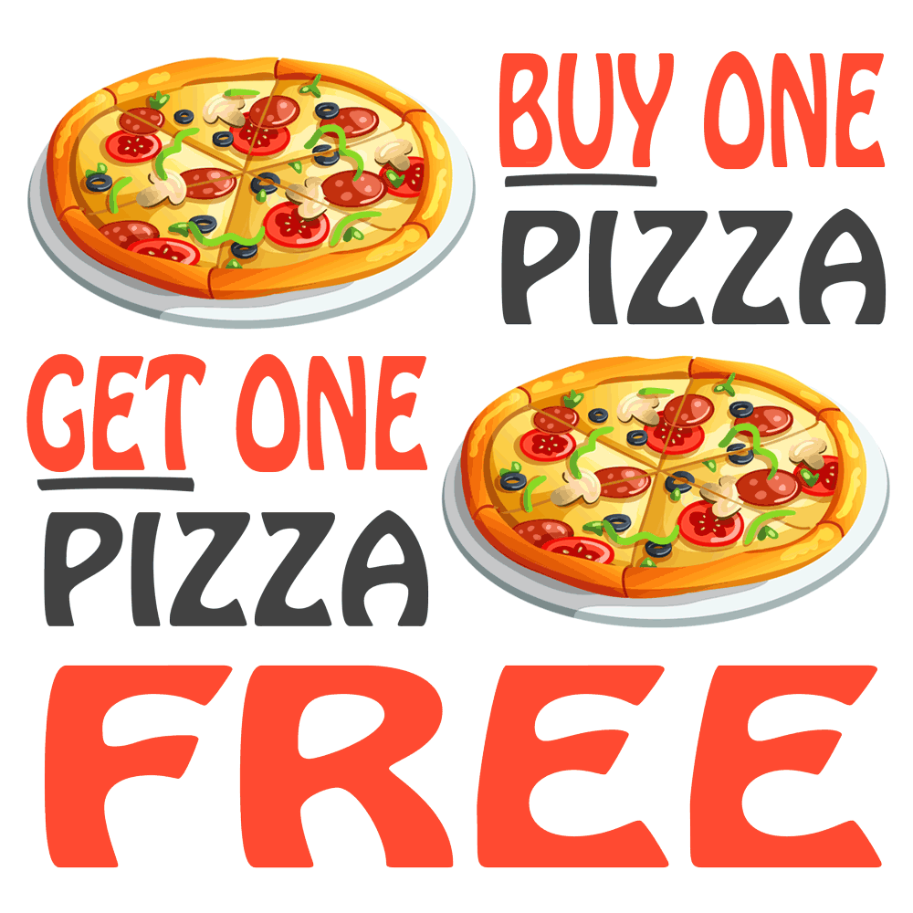 Buy One Pizza & Get One Pizza Free on Fridays at Wah Wah Beach Bar