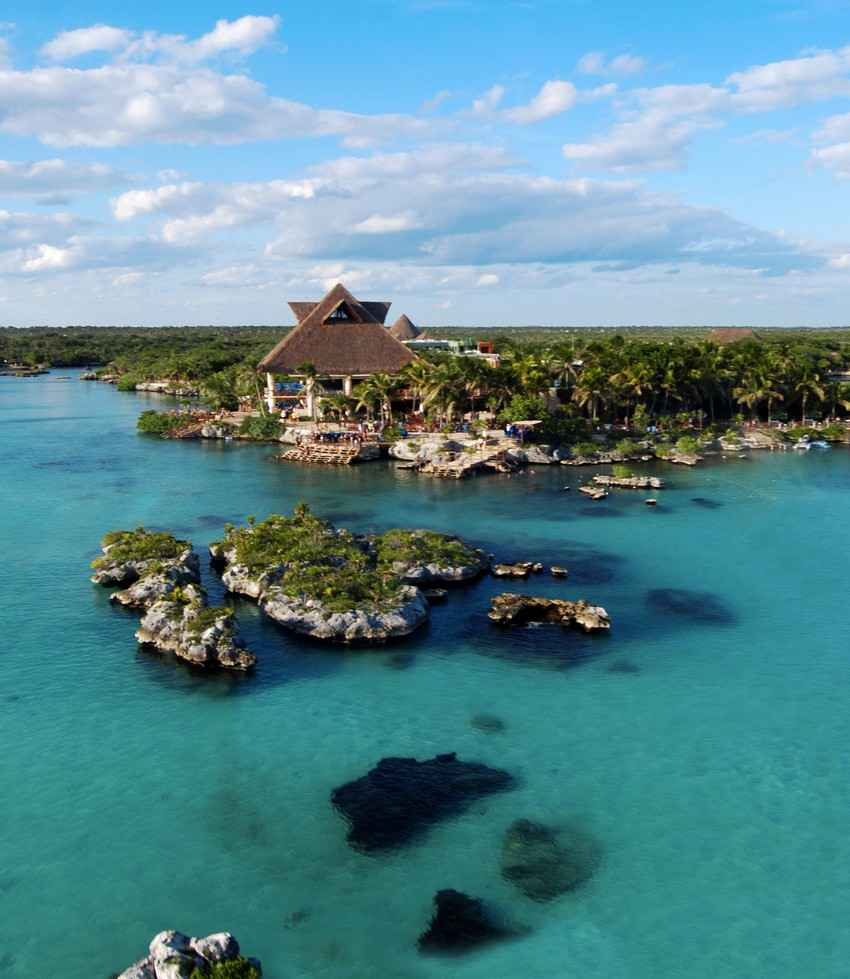 An aerial view of Xcaret.