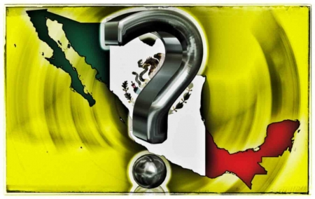 A question mark with Mexico in the background answering why I moved there.