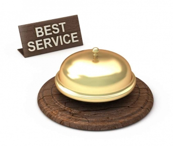 A graphic of a service bell.