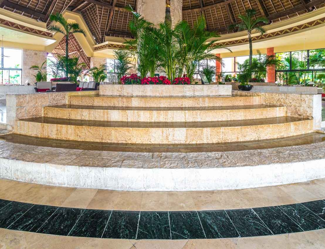 An entrance to a resort in Playa Del Carmen.