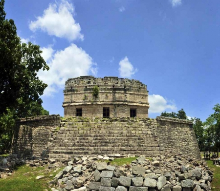 Several Mayan ruin the near Playa Del Carmen.