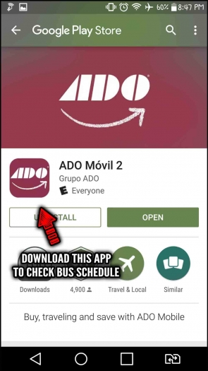 The ADO Mobil app available on the Google Play Store.
