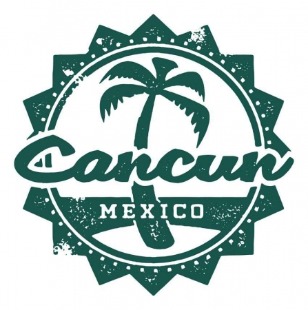Cancun Mexico logo graphic.