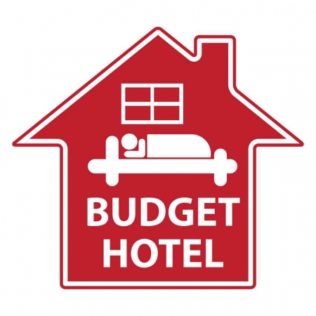 A budget hotel graphic.