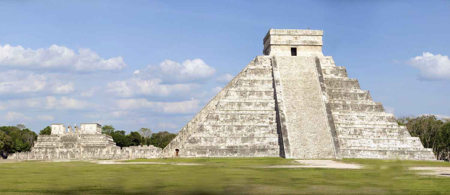 The El Castillo Mayan pyramid.