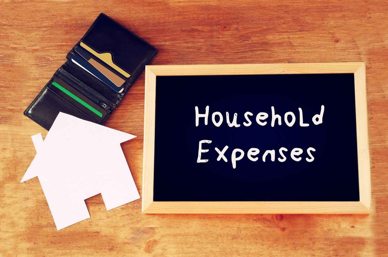 A household expenses graphic.