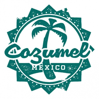 Cozumel Mexico logo graphic.