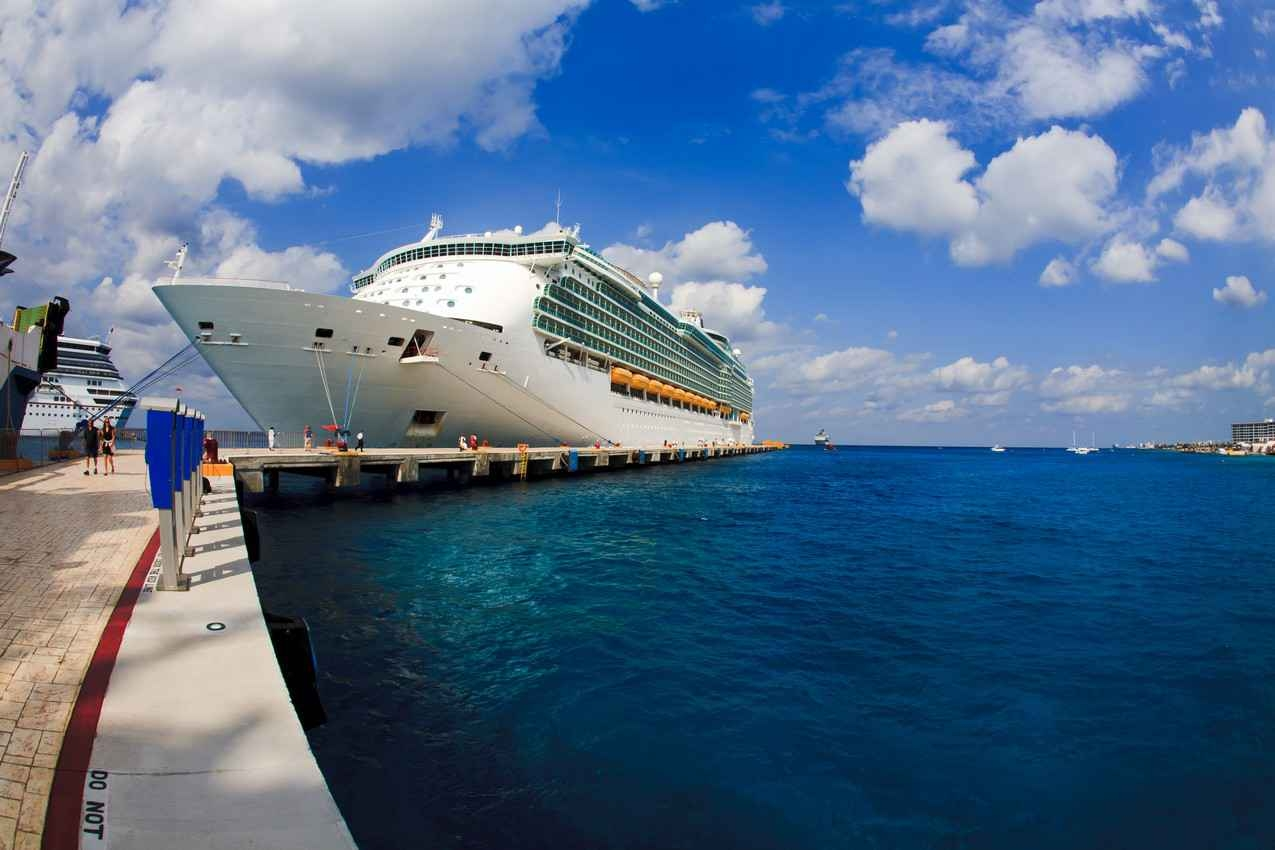 A cruise ship port dock.