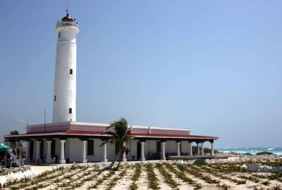 A lighthouse near the Cozumel shore.