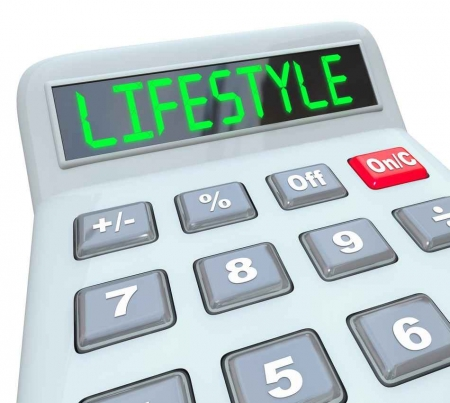 A graphical representation of a lifestyle calculator.