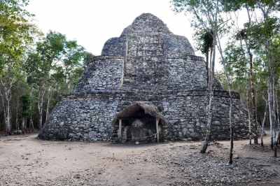 Several remnants of the Mayan culture.