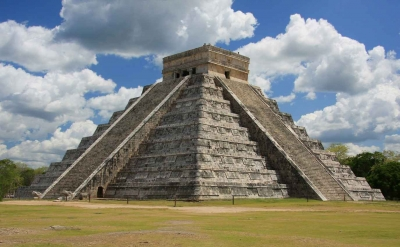 The most famous pyramid at Chichen Itza.