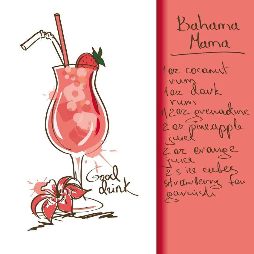 Bahama Mama drink recipe.