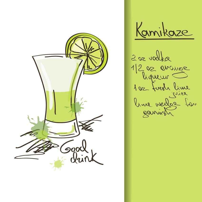 Kamikaze drink recipe.