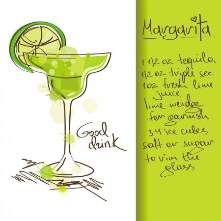 Margarita drink recipe.