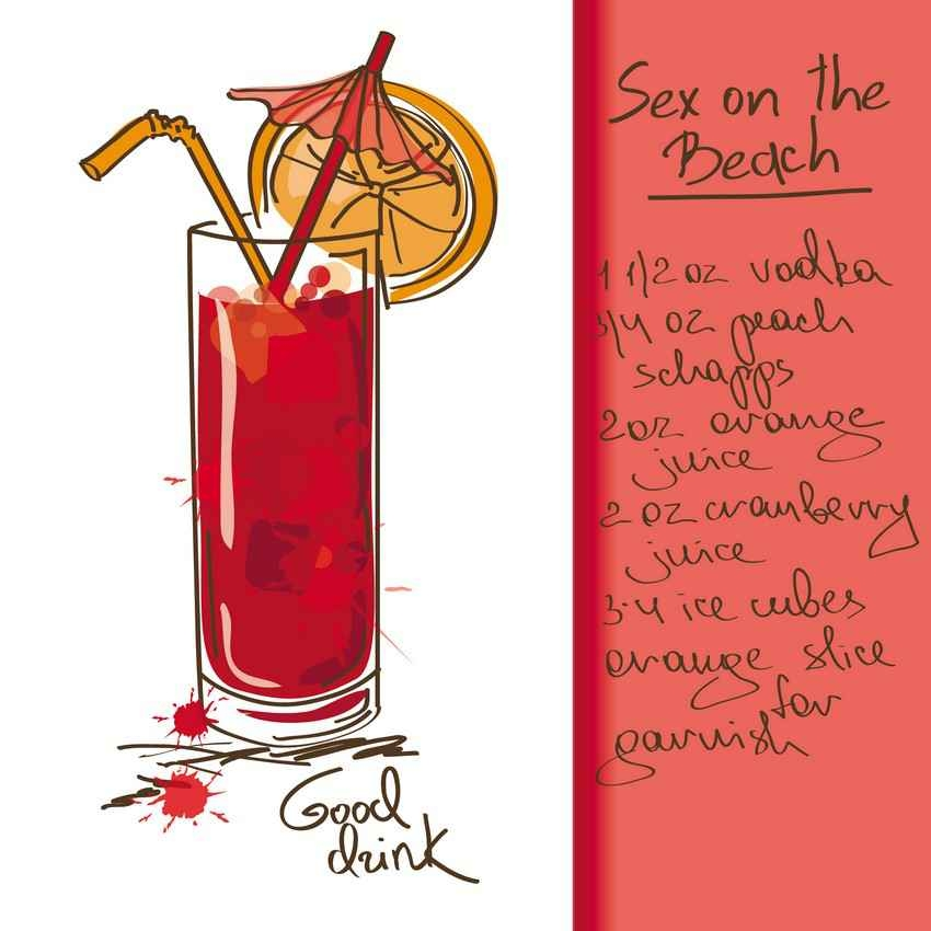 Sex on the beach drink recipe.