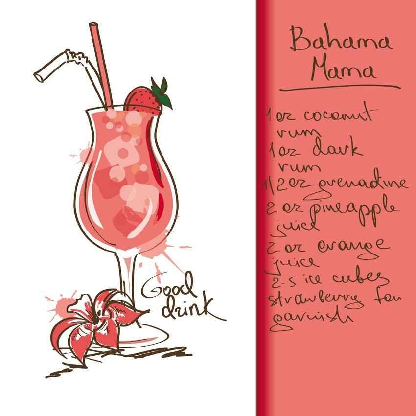 Bahama Mama drink recipe.