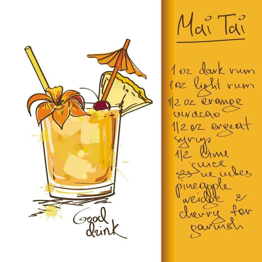 Mai Tai drink recipe.