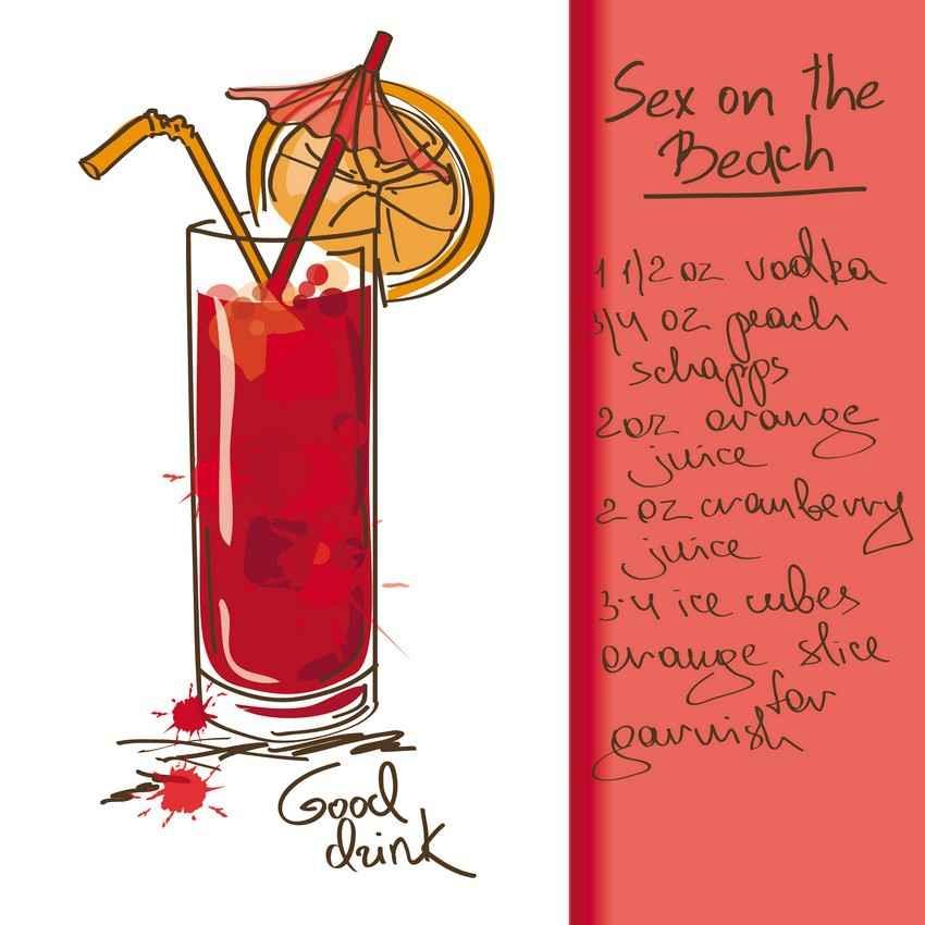 Sex on the beach drink recipe.