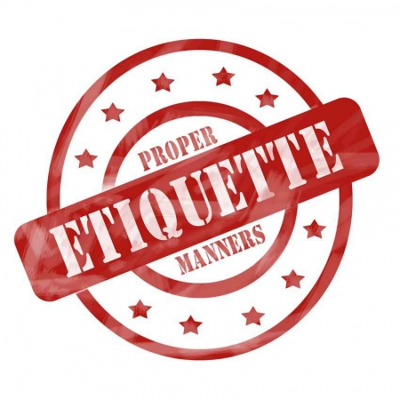 Proper etiquette and manners graphic.