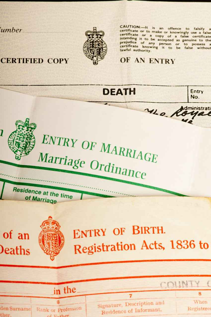 how to get parents marriage certificate