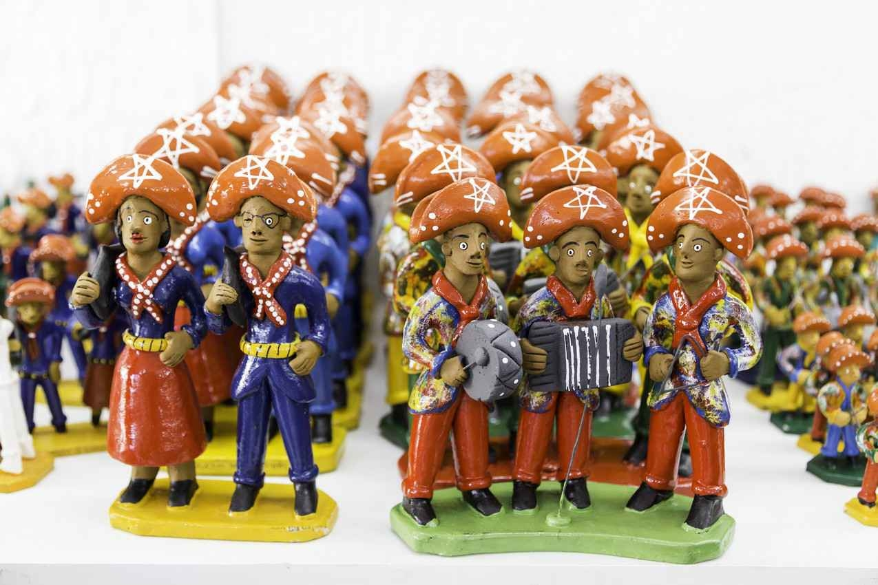 Several clay Mexican military characters.