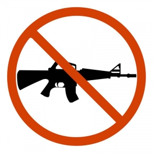 No automatic weapons sign.