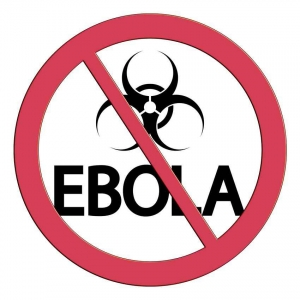 No Ebola allowed sign.
