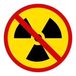 No radioactive material sign.