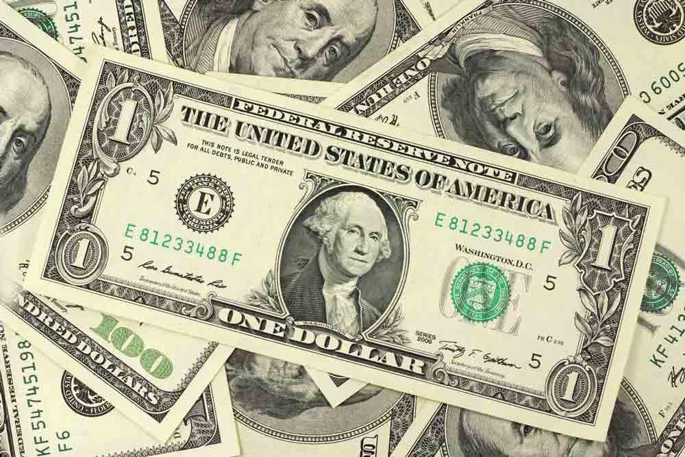Stacks and stacks of US dollar bills.