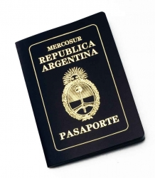 An Argentinian passport.