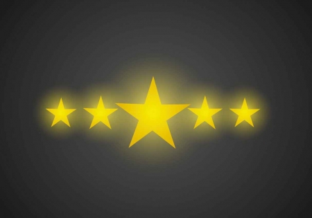 Five stars graphic.