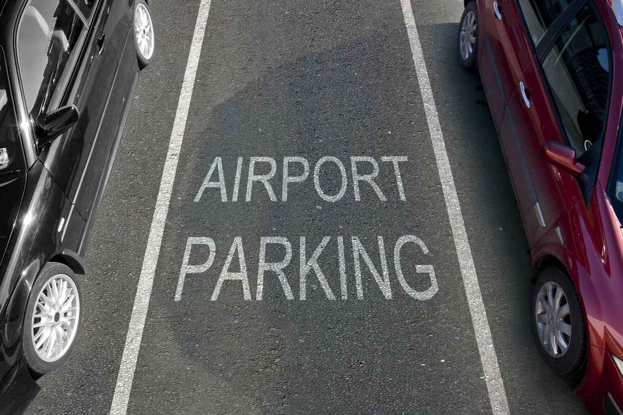 An airport parking spot at the Cancun international Airport.
