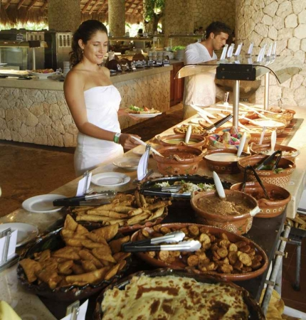 A small part of an all-inclusive buffet.