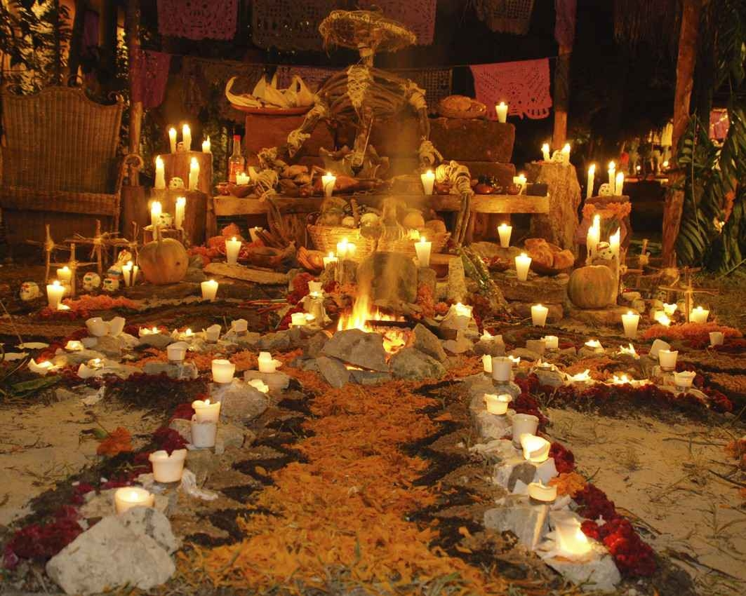 A Mexican traditional festival that celebrates the Day of the Dead.