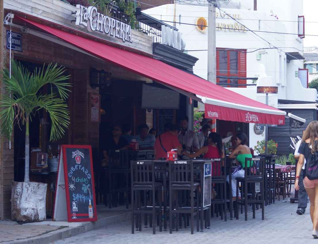 La Choperia bar on Fifth Avenue in Playa Del Carmen.